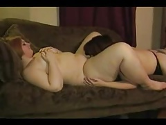 Sexy amateur fatties licking pussy