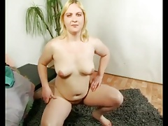 Fat Chubby Teen masturbating for money in front of cam