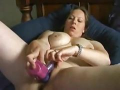 Hot Fat Chubby Ex GF masturbating with her vibrator