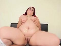 BBW redhead loves sooty cock