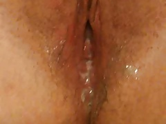 Oozing some guys cum