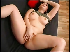 Delicious Chubby Teen fingering the brush Leftist Shaven pussy