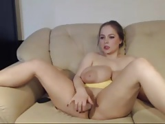 Obese titted curvy woman masturbate not susceptible cam