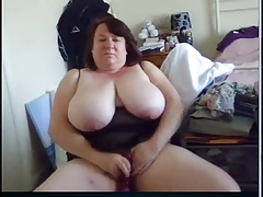 obese boobed webcam