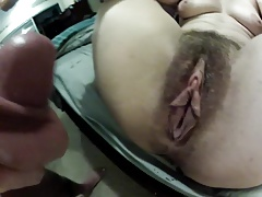 Wow big hairy pussy getting fucked