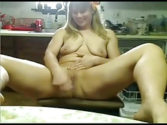 This Nympho Chubby Farm doll is masturbating for the cam