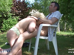 Chubby bbw french mature nextdoor steadfast banged outdoor