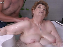 Mature BBW mom screwing son in absolutely confess
