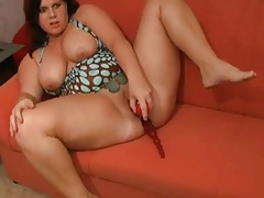 Hot Heavy BBW Teen carrying-on and spreading her soaking pussy