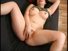 Sultry Fat Chubby Teen GF fingering wet pink pussy