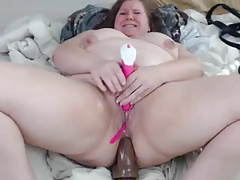 BBW PLAYS WITH HER PUSSY With an increment of ASS