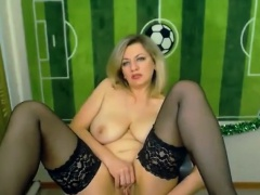 Blonde Russian masturbating mainly webcam