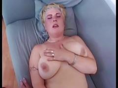 Alex known as Martina Neumajerova has Womanfun on the chouch
