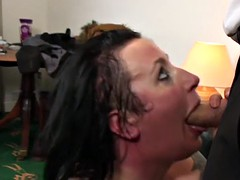 Tattooed BBW fat nuisance milf slut gets her muscle holes well-shaped
