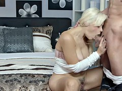 Big tits blonde deep throats fat detect