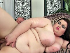 Bigtitted bbw beauty fucked hard
