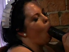Britains BBW Honey carrying out both B&W cocks if ever