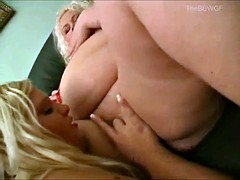 2 Horny Chubby Fat BBW Lesbian Lovers be in love with pussy juice-3