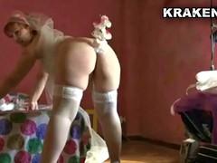 Krakenhot - Chubby bride in savage spanked in a sextape