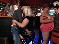 Hot bbw corps in the bar