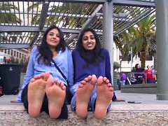 Arab and Indian Girls Feign and Talk about Their Stinky Legs