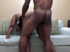 BBW ebony rides BBC on high amateur tape
