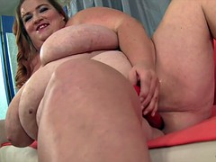 Big titted fatty Kayla masturbates