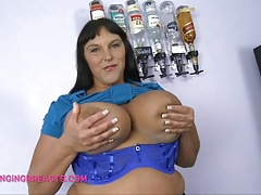 A Barmaid with fat heavy breasts