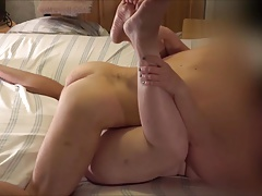Horny & Engorged Amateurs Merge Cock & Cunt: Pussy Creampie