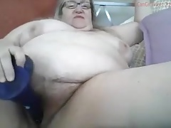 BBW Granny Circling Her Pussy