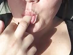 BBW Masturbates In Car
