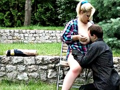 hugetitted bbw dominates with facesitting