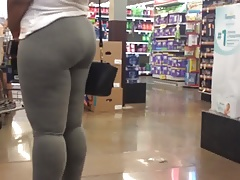 Thick Booty Shake Straight from the shoulder Quickie in Grey Leggings