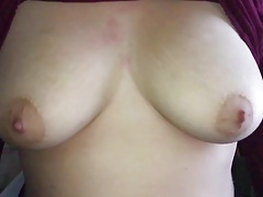 Slow motion big tits drop from shirt