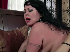 big lingerie cougar cockrides coupled with titfucks