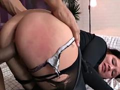 fat rod stuffs tight butt
