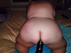 bbw whore fucking huge dildo