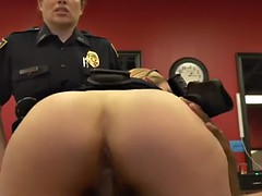 policewomen have burly round asses to confine on non-natural black boners