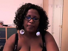 Ebony amateur huge boobs tease webcam