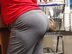Phat Mature Ass regarding Grey Sweats (Checkout Line)